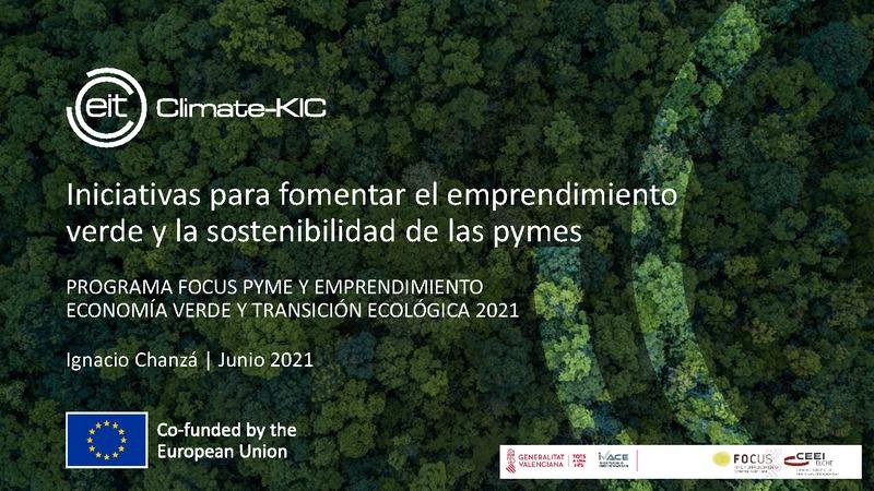 Iniciativas para fomentar el emprendimiento verde y la sostenibilidad de las pymes