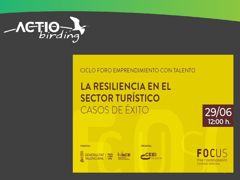 Presentación Virgilio Beltrán de Actio Birding 'La resiliencia en el sector turístico. Casos de éxito'