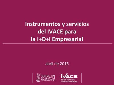 Instrumentos y servicios del IVACE para la I+D+i Empresarial
