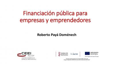 Financiación pública para empresas y emprendedores