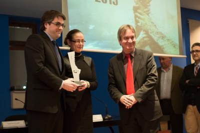 Mauricio Sanchis recogiendo premio CEEI IVACE 2015