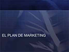 Plan de Marketing (Presentación)