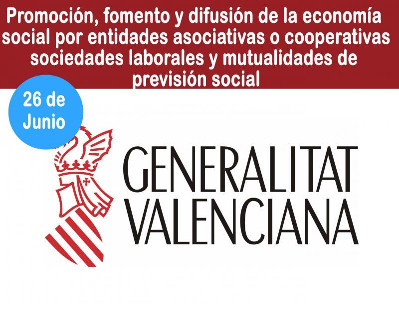 Ayudas a la promoción, fomento y difusión de la economía social a través de actividades