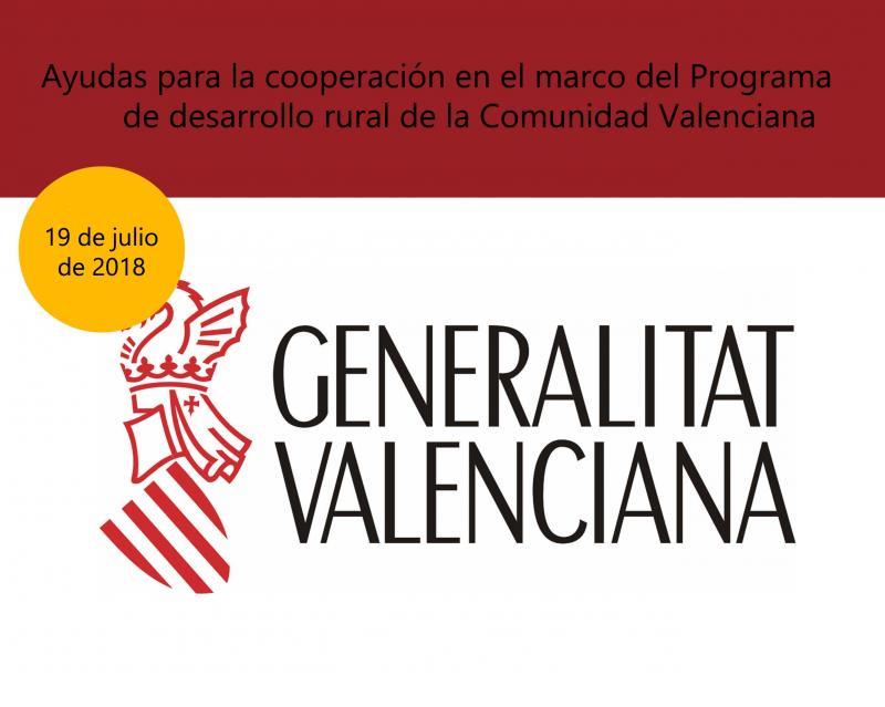 Ayudas para la cooperación en el marco del Programa de desarrollo rural de CV