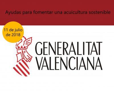 Ayudas para fomentar una acuicultura sostenible en la Comunitat Valenciana.