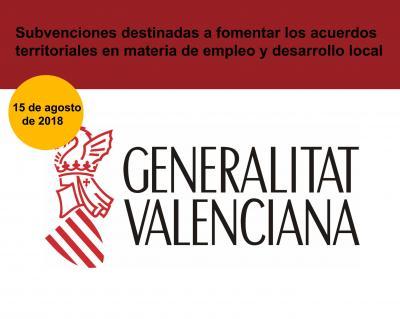 Subvenciones para fomentar los acuerdos territoriales en empleo y desarrollo local CV