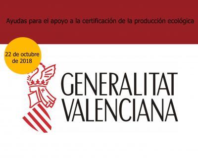 Ayudas  a la certificación ecológica en CV