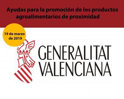 Ayudas para la promoción de los productos agroalimentarios de proximidad de la Comunitat Valenciana.