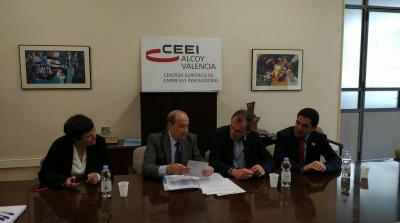 Visita Pedro Duque al CEEI Alcoy-Valencia