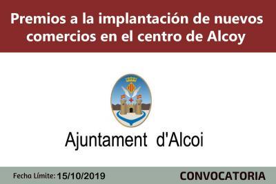 Premios nuevos comercios centro Alcoy 2019