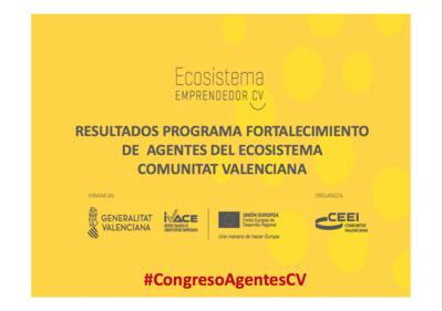 Resultados del Programa de Fortalecimiento de Agentes Ecosistema Emprendimiento de la Comunitat Valenciana