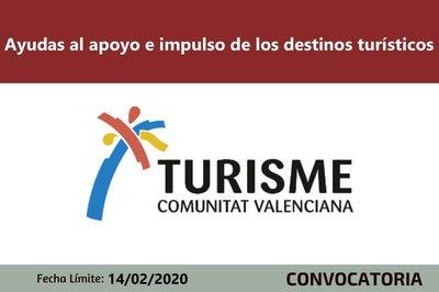 Ayudas al apoyo e impulso de los destinos turísticos CV