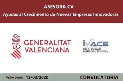 ASESORA CV - Ayudas al crecimiento de nuevas empresas innovadoras