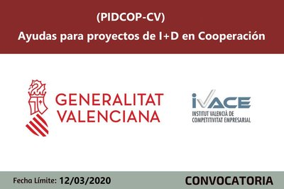 Ayudas para proyectos I+D en cooperación (PIDCOP-CV)