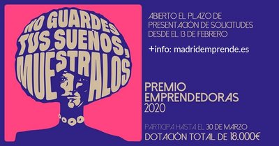 X edición del Premio Emprendedoras 2020