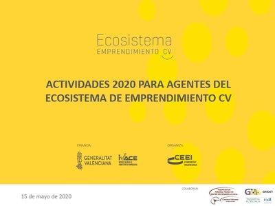 Presentación de las Actividades 2020 para Agentes del Ecosistema de Emprendimiento CV - PDF