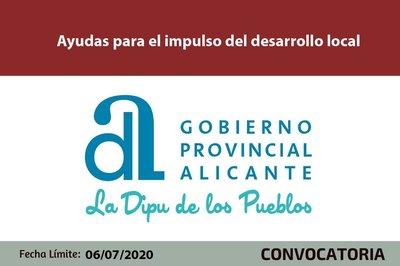 Ayudas impulso desarrollo local de la Diputación de Alicante