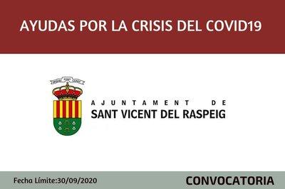 Subvenciones por la Crisis sanitaria Covid-19 Ayuntamiento de Sant Vicent del Raspeig