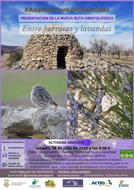 """Presentación del nuevo itinerario ornitológico """"Entre barracas y lavandas"""""""