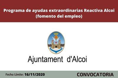 Ayudas Reactiva Alcoi. Fomento del empleo