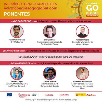 Expertos en inteligencia artificial, sostenibilidad y digitalización participarán en los tres Foros del Congreso Go Global