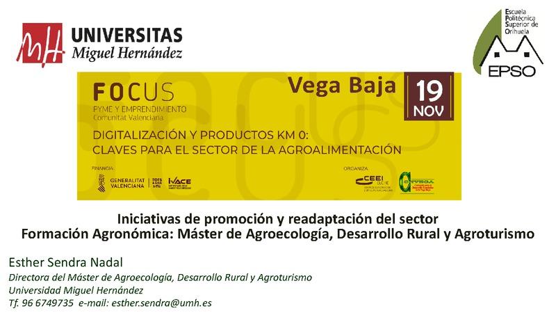 Iniciativas de promoción y readaptación del sector agroalimentario