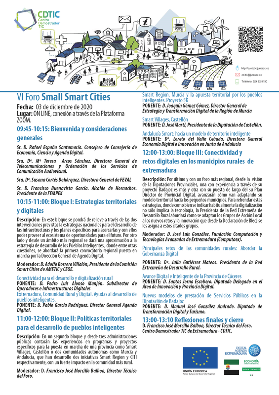 "VI Foro ""Small Smart CITIES"""