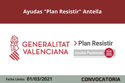 "Ayudas ""Plan Resistir"" Antella"