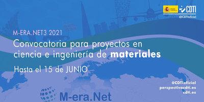 1ª Convocatoria conjunta de la ERA-NET M-ERA.NET3 2021