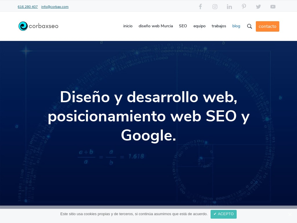 Blog diseño web, SEO, WordPress y Google | CORBAXSEO